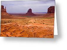 Monument Valley Greeting Card by Peter Verdnik
