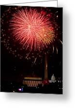 Monumental Celebration Greeting Card by David Hahn