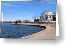 Monumental View Greeting Card by