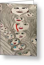 Moods Greeting Card by HollyWood Creation By linda zanini