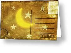 Moon And Star Postcard Greeting Card by Setsiri Silapasuwanchai