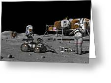 Moon Exploration, Artwork Greeting Card by Walter Myers