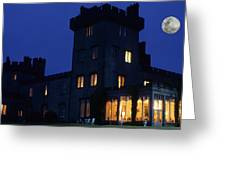 Moon Over Dromoland Castle  Greeting Card by Carl Purcell