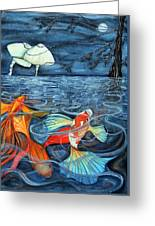 Moonlight Rendezvous Greeting Card by Lesley Smitheringale