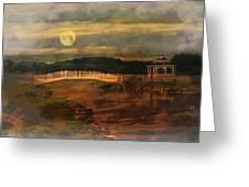 Moonlight Stroll Greeting Card by Kathy Jennings