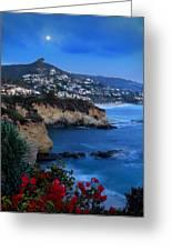 Moonrise Over Treasure Island Beach Greeting Card by Dave Storym