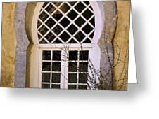 Moorish Window Greeting Card by Carlos Caetano