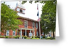 Morgan County Courthouse Greeting Card by Paul Mashburn