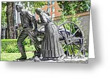 Mormon History - Hand Cart Statue Greeting Card by Gary Whitton