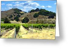 Morning At Mosby Vineyards Greeting Card by Kurt Van Wagner