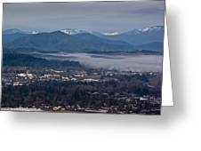 Morning Fog Over Grants Pass Greeting Card by Mick Anderson