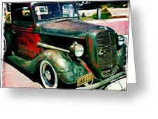 Morning Glory Coal Truck Greeting Card by Nina Prommer