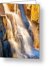Morning Light On Lower Falls Greeting Card by Marc Crumpler