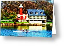 Morning On The Schuylkill River Greeting Card by Bill Cannon