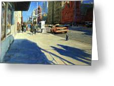Morning Shadows On Amsterdam Avenue  Greeting Card by Peter Salwen