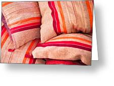 Moroccan Cushions Greeting Card by Tom Gowanlock