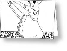 Moroccan Dancer Greeting Card by John Keaton