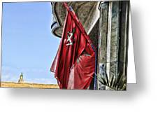 Morocco Flag I Greeting Card by Chuck Kuhn