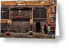 Morocco Life I Greeting Card by Chuck Kuhn