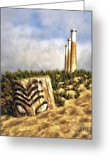 Morro Bay Tiki Head - 02 Greeting Card by Gregory Dyer