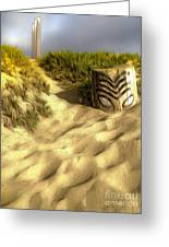 Morro Bay Tiki Head Greeting Card by Gregory Dyer