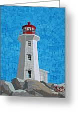 Mosaic Lighthouse Greeting Card by Kerri Ertman