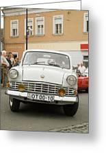 Moscovich Old Car Greeting Card by Odon Czintos