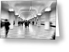 Moscow Underground Greeting Card by Stelios Kleanthous