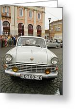 Moscvich Old Car Greeting Card by Odon Czintos