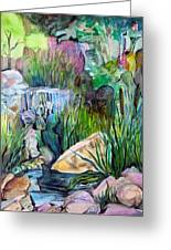 Moses In The Bull Rushes Greeting Card by Mindy Newman