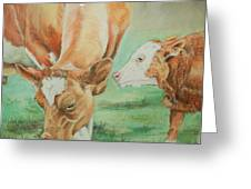 Mother And Baby Greeting Card by Teresa Smith