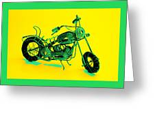 Motorbike 1b Greeting Card by Mauro Celotti
