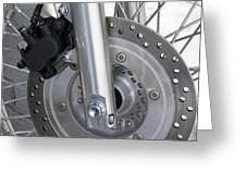Motorcycle Disc Brake Greeting Card by Tony Craddock