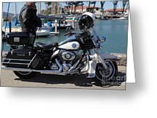 Motorcycle Police At The San Francisco Marina - 5d18266 Greeting Card by Wingsdomain Art and Photography