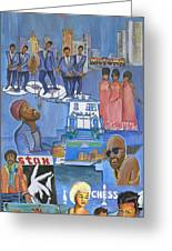 Motown Commemorative 50th Anniversary Greeting Card by Kenji Tanner