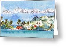 Motu Toopua Bora Bora Greeting Card by Pat Katz