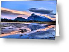 Mount Rundle In The Evening Greeting Card by Tara Turner