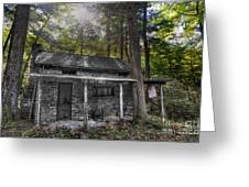 Mountain Cabin Greeting Card by Dan Friend