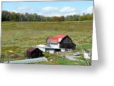 Mountain Farm Greeting Card by John Turner