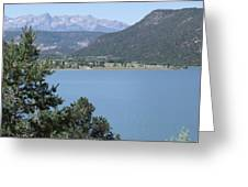 Mountain Lake Greeting Card by Lee Manning