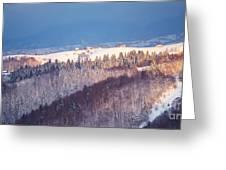Mountain Landscape In Brasov County Greeting Card by Gabriela Insuratelu