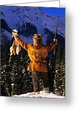 Mountain Man 1 Greeting Card by Bob Christopher