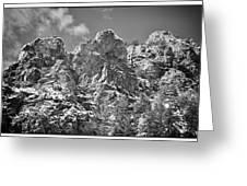 Mountain Peaks Greeting Card by Lisa  Spencer