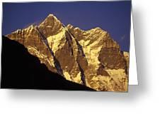 Mountain Peaks Greeting Card by Sean White
