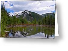 Mountain Pond Reflection Greeting Card by Roderick Bley