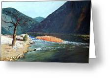 Mountain River Greeting Card by Stephen  Hanson
