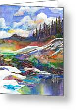 Mountain View Greeting Card by Marty Husted
