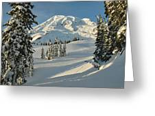 Mountainous Landscape In Mt. Rainer Greeting Card by Raymond Gehman