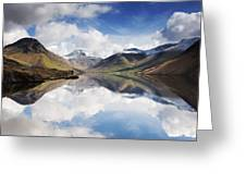 Mountains And Lake, Lake District Greeting Card by John Short
