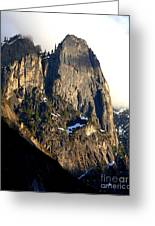 Mountains Of Yosemite . 7d6167 . Vertical Cut Greeting Card by Wingsdomain Art and Photography